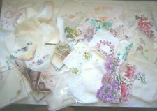 Vintage Handkerchiefs Linens Floral Silks Embroidery Lovely-44 Hankies