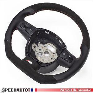 Alcantara Volant Aplati Cuir Noir Audi A3, A4, A5, A6, Q5, Q7 Echange standard-
