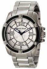 Marc Ecko Mens The Flash 3 Hand Silver Dial Black IP Bezel SS M13583G4 Watch