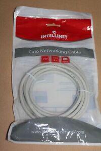 Intellinet Cat6 RJ45 Netzwerk Anschlusskabel ungeschirmt, U/UTP,, 3 m, grau
