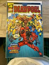 Deadpool #0 Wizard Insert Promo 1998 Marvel Comics VF Key FREE SHIPPING!