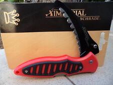 IMP0022CP Couteau de Secours Ems Schrade Imperial Rescue Red/Black Serrated Manc