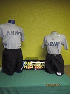 Army PT Shorts Short IPFU Physical Fitness Training Trunks Black, Military New