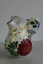 More details for vintage spanish floral pottery water jug & 2 cups