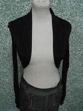 20 270/9 Jean Paul Mujer Diseñador Bolero corto chaqueta talla 34 Negro