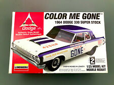 Lindberg Color Me Gone 1964 Dodge 330, 1/25 scale, #72156, opened but complete