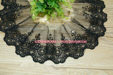 BF166 1 yards, Tulle Lace Trim Ribbon Appliques Embroidered Handicrafts Sewing