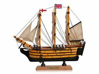 Victory Wooden Model Ship 24cm, Warship Nautical Gift Boat, Wooden Ships