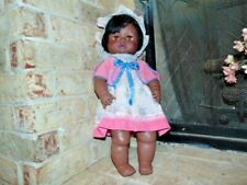 VINTAGE 1971 EEGEE SOFTINA DRINK AND WET DOLL AFRICAN AMERICAN 20 inch