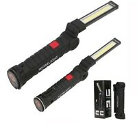 Portable Flashlight USB Torch LED Work Light Rechargeable Magnetic COB Hanging