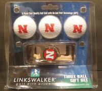 Nebraska,Maine,SD,Utah St. Links Walker 3 Golf Ball Gift Set W/Key Chain Bottle
