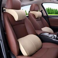PU Leather Car Seat Neck Pillow Headrest Foam Memory Auto Cushion Travel