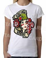 Roller Derby Girls Represent - Womens White T-Shirt - Geek Retro Fun Kitsch Cute