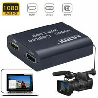 USB HDMI Video Capture Cards 4K 1080P 60fps Game Video Record Live Streaming