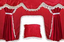 RED Truck Set Curtains Pelmets for MERCEDES VOLVO RENAULT IVECO DAF MAN SCANIA