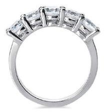 3.75 carat 5 Round Diamond Band Platinum Anniversary Ring 0.75 ct each F VS GIA