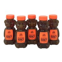 5-Pk Nature Nate's 100% Pure Raw & Unfiltered Honey Bear Squeeze Bottle, 12 Oz