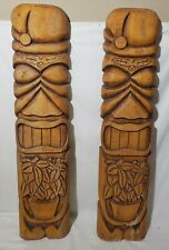 (2) 2004 American Tiki Design Wood MASK HAWAIIAN WALL ART ISLAND HOME DECOR BAR
