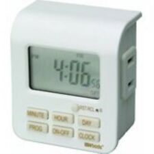 Woods 50008 Indoor 7-Day Digital Outlet Timer, Programmable (20 On/Off Settings)