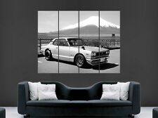 NISSAN SKYLINE POSTER CLASSIC CAR BLACK AND WHITE MOUNTAIN JAPAN FAST PRINT