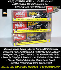 All 3 Custom Display Boxes AW CP7102 MAC TOOLS Top Fuel Dragster Set Only Cars