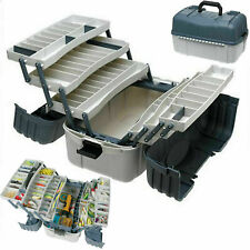 Fishing Tackle Box With 7 Tray Full Travel Holder Pack Handle-Locking New