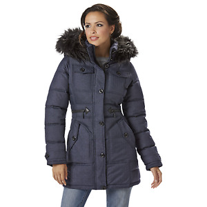 Rocawear Womens Plus Hooded Snorkel Jacket Indigo Heather 3XL #NJHSX-707