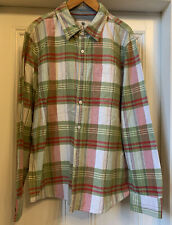 Mens FAT FACE Green/red Check Shirt Size XL