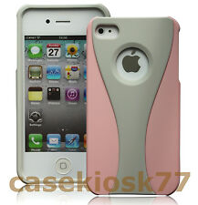 for iphone 4 4G 4S case cute gray and pink rubber premium hard +screen protector