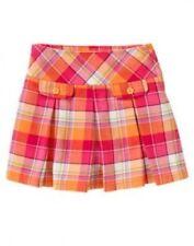 NWT~ Gymboree SUNFLOWER SMILES pink orange plaid pleated skirt~4
