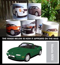 MAZDA MX5 CAR ART MUG. PERSONALISE IT!