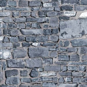 A3 Grey Stone Wall Effect Cladding Tumdee 1:12 Scale Dolls House Paper 797a-8a