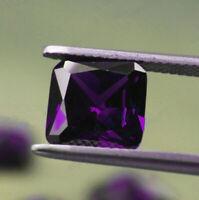 Natural Purple Amethyst Gems 6x6mm 1.68ct Cushion Cut AAA VVS Loose Gemstone