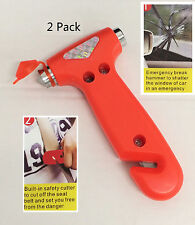 ( 2 Pack ) Car Window Breaker Seat Belt Safety Emergency Hammer Cutter Tool