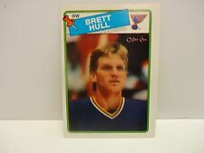 1988 O-Pee-Chee Hockey Brett Hull Rookie Card # 66 St. Louis Blues