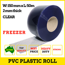 Clear PVC Door Strips Curtain Roll Extra Strong 50m x 150mm x 2mm FREEZER
