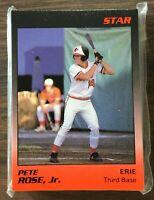 1989 Star Company ERIE ORIOLES  Minor League UPDATED Set  PETE ROSE JR F6020209