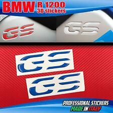Coppia Adesivi Resinati 3D BMW GS Serbatoio R 1200 LC Azzurro