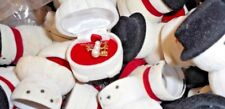LOT OF 20 ENAMEL SNOWMAN NECKLACE IN *IMPERFECT* VELOUR SNOWMAN GIFT BOX