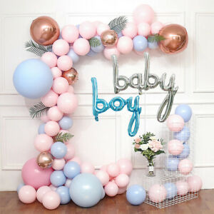 Baby Boy Gender Reveal Baby Shower Balloon Arch Decoration Kit - 100+ Balloons