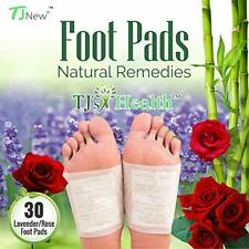 Organic Sleep Foot pads. 30 rose & lavender feet patches to aid natural sleep.