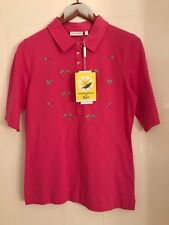 Daily Sports ladies golf polo pink cerise B.N.W.T.