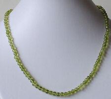 Peridoto COLLAR, verde cadena bolas con lisas OLIVINO piedra preciosa