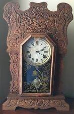Sessions Mantel Clock Forestville, Connecticut USA  Early 1900's, Rare & Ornate