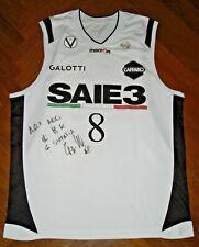 Canotta basket MATCH WORN POETA VIRTUS BOLOGNA AUXILIUM FIAT TORINO camiseta NBA