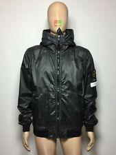 Stone Island Lamy Flock Jacket Large 691544435 BNWT Black V0029 L Garment Dyed