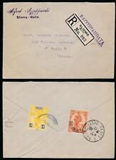 Malta 1926 registrado 4d + 1 1/2 D Sliema a Francia.. azzoppardi Envolvente