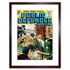 Comic Public Defender Action Crime Police Framed Art Print 9x7 Inch