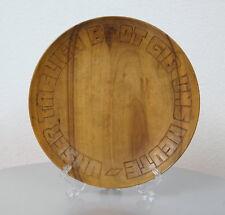 alter Nussbaum Holz Teller Brotteller Unser täglich Brot gib uns heute 30er J.