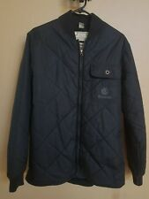 Mens NWT ELEMENT Black Quilted Jacket Coat Size Small